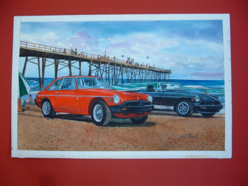 MGB MGB-GT rubber bumper British sports car Original Painting