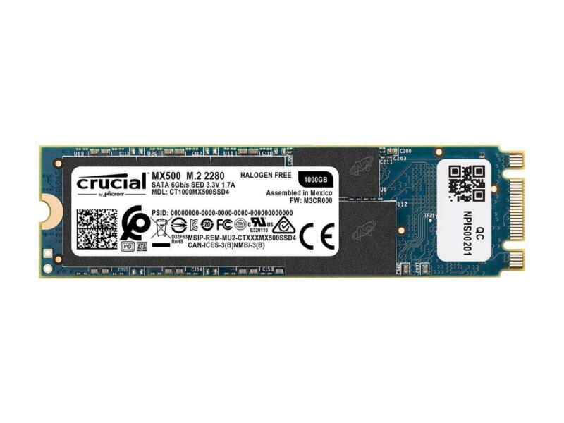 Crucial 1TB Internal SATA Solid State Drive for Laptops Blue CT1050MX300SSD4
