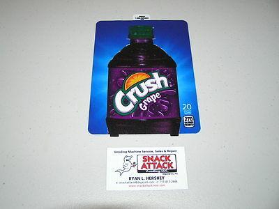 Dixie Narco 501e 276hv Soda Vending Machine Crush Grape Bottle Vend Label