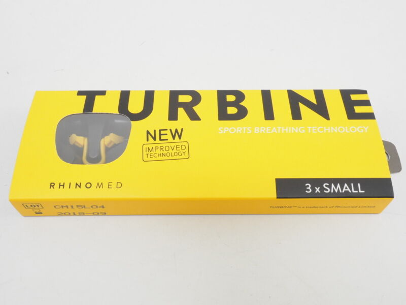 NEW! Rhinomed Turbine Sports Breathing Nasal Device Size Small (3 Pack)