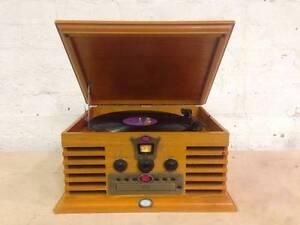 Retro Hi-Fi Stereo System - Record Player / Turntable Radio CD Brunswick Moreland Area Preview