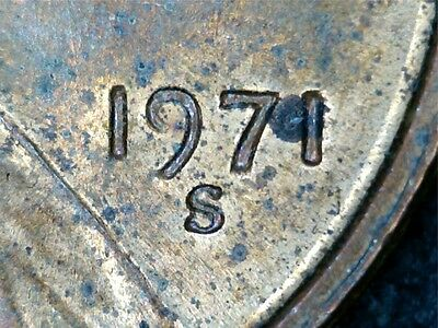 1971 S LINCOLN CENT DOUBLED DIE OBVERSE