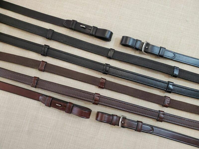 KL Select Italia Soft Grip Reins Pin End - Black