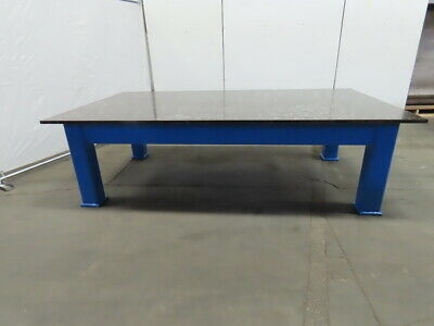 1 Thick Top Steel Fabrication Welding Layout Table Work Bench 108lx60wx31-34h