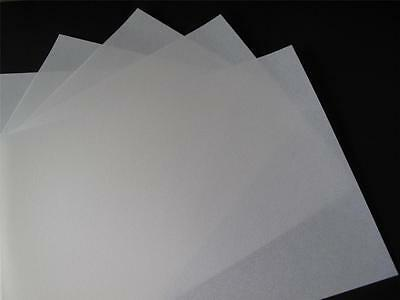 10 x A4  White Extra Heavyweight Parchment  Vellum 220gsm