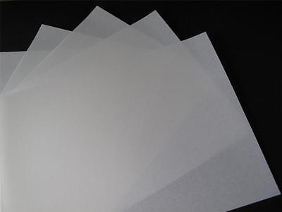 10 x A4  White Extra Heavyweight Parchment  Vellum 220gsm