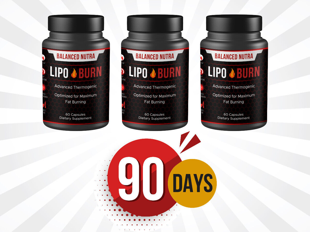 3 x Fat Burner Appetite Control Weight Loss pills fat burnin