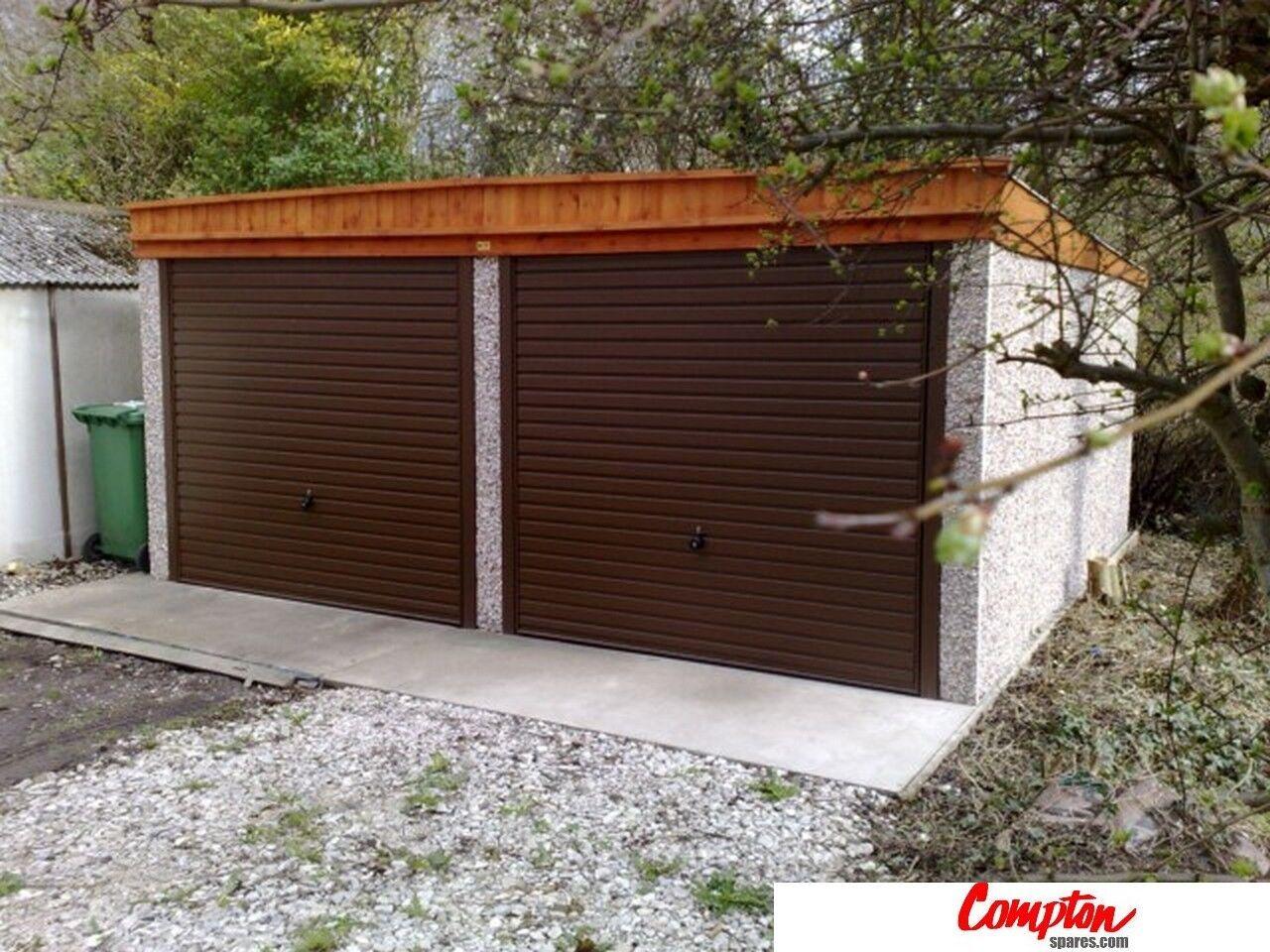 Prefab Garages Buildings Double Pent Roof Garage 16ft6in W X 18ft3in L Ebay