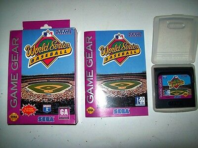 World Series Baseball Game Gear Game Complete With Box And Case