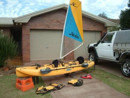 Hobie Kayak 2 seater with sail Mirage drive