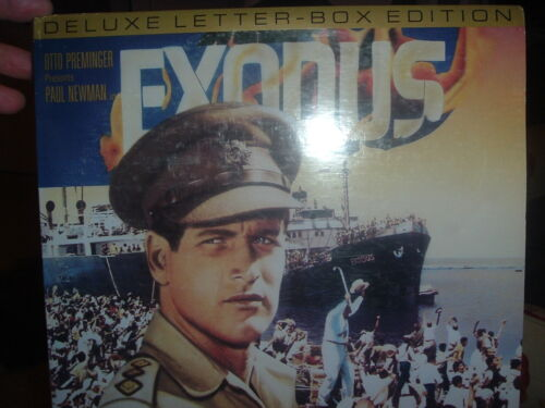 Exodus on 2 Laser Discs,Laser Disc Movie.Deluxe Letter Box Edition,Classic Laser