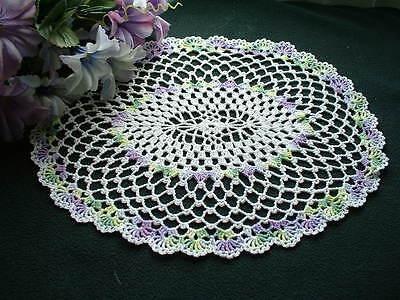 New Crochet ~  Pastel OVAL Doily