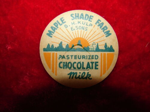 Vintage Milk Bottle Cap - Maple Shade Farm - S. H. Kulp & Sons