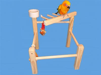 - Bird Toy Play Gym Cockatiels,Conures,Senegals,Etc.-Bird Toy,Play Stand, Cage Top