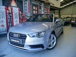 2014 Audi A3 8V MY15 Attraction S Tronic Silver Grey 7 Speed Sports Automatic Dual Clutch Cabriolet Rydalmere Parramatta Area Preview