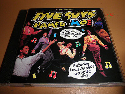 Five Guys Named Moe Broadway Cast Soundtrack Cd Cameron Mackintosh Louis Jordan