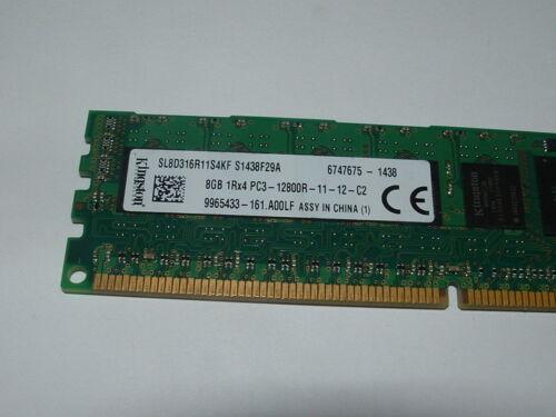 Kingston SL8D316R11S4KF 8GB 1Rx4 PC3-12800R Server Memory