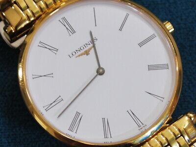 Nice LA GRANDE CLASSIQUE DE LONGINES 18KGP Men's Extra Slim Watch