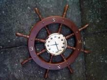 Ship stering wheel clock North Strathfield Canada Bay Area Preview