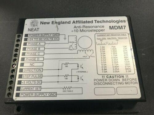New England Affiliated Technologies MDM7 Anti-Resonance Microstepper