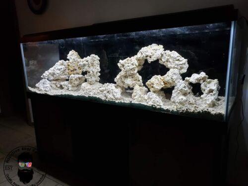 40 lbs Sm/Med/Lg Dry Reef Rock Aragonite Base, Porous, Live, Aquarium