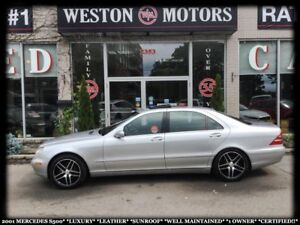 2001 Mercedes-Benz S-Class S500*LUXURY*LEATHER*SUNROOF*1 OWNER!!