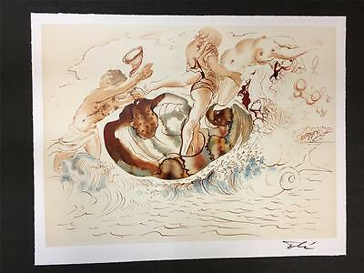 Sirens and the Sailor Fine Art Lithograph Salvador Dali S2