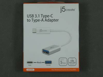 """Brand New 4"""" j5 Create USB 3.1 Type-C to Type-A On-the-Go OTG Adapter JUCX05 for sale  Shipping to South Africa"""