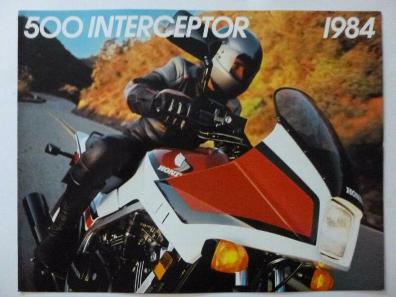 HONDA motorcycle brochure 500 INTERCEPTOR Uncirculated high quality color