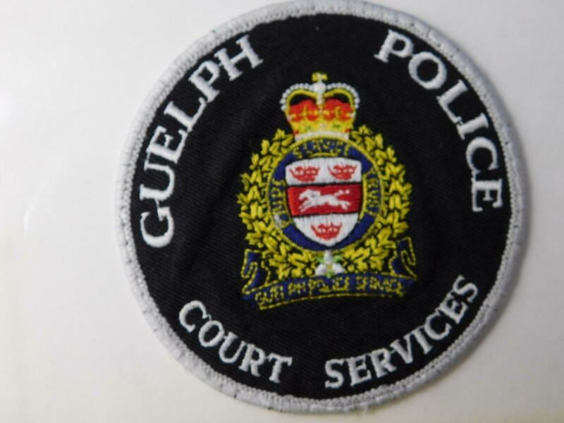 GUELPH POLICE COURT SERVICES VINTAGE PATCH BADGE ONTARIO CANADA COLLECTOR