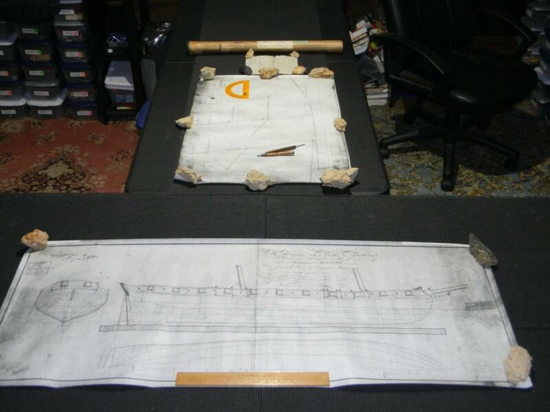 On Her Majestys Service HMSO Ship Plans Schooner Prince de Neufchatel Model/Wall