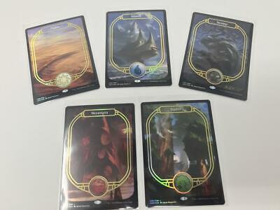 MTG Magic Unsanctioned Full Art Basic Lands Foil Set of 5 Cards Inv:A32