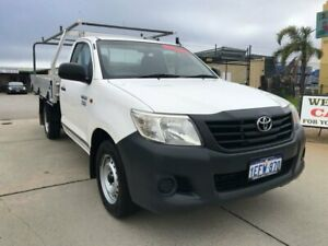 2013 Toyota Hilux TGN16R MY12 Workmate 4x2 White 5 Speed Manual Cab Chassis Wangara Wanneroo Area Preview