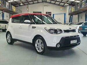 2016 Kia Soul PS MY16 SI Clear White 6 Speed Automatic Hatchback Seven Hills Blacktown Area Preview