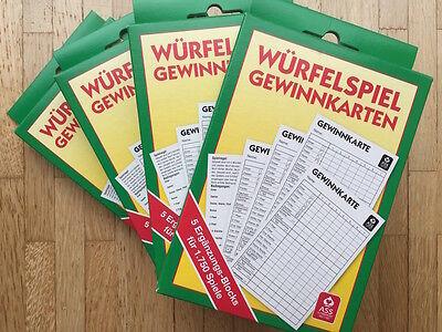 Ab 3,00 € - Yatzy Yatzee Kniffel Block 5er Blöcke für 1750 Spiele von ASS online kaufen