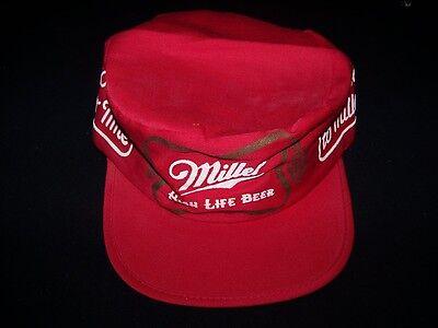 Miller High Life vintage painters beer cap red 1980s hat