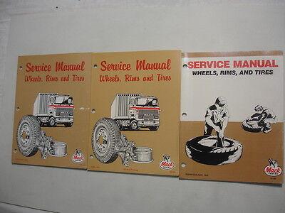 Mack Trucks  Wheels Rims & Tires Factory Shop Service Repair Manual   15-101 ()