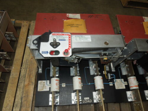 Qa-1233-cbc 1200a 480v Pringle Switch Black Back Used E-ok