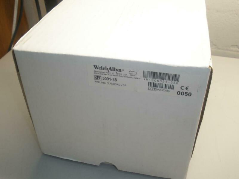 NEW Welch Allyn 5091-38 Wall Aneroid Sphygmomanometer w/ Cuff