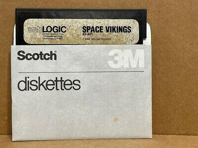 Vintage Apple II Floppy Disk - SPACE VIKINGS -  UNTESTED (1982)