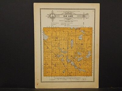 Minnesota, Grant County Map, 1914 Township of Elk Lake Y1#05