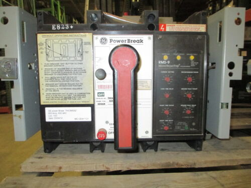 Ge Powerbreak Thc88ssz 800a 3p 600v Mo/do Circuit Breaker W/ Lsig Used E-ok