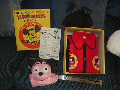 1950s Mickey Mouse Mouseketeers Costume Play Outfit NEW in Box Walt Disney