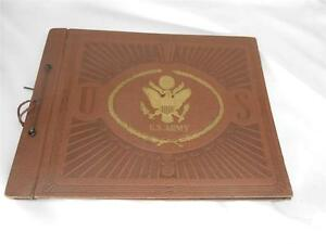 Old Vtg U.S. Army Military SCRAPBOOK UNUSED Photo Album Embossed Cover Emblem