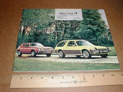 1977 AMC American Motors brochure & business card Gremlin Pacer Hornet Hatchback