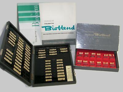 Vintage Dental Bioblend Denture Tooth Mouldshade Selector Guides Wood Case -de3