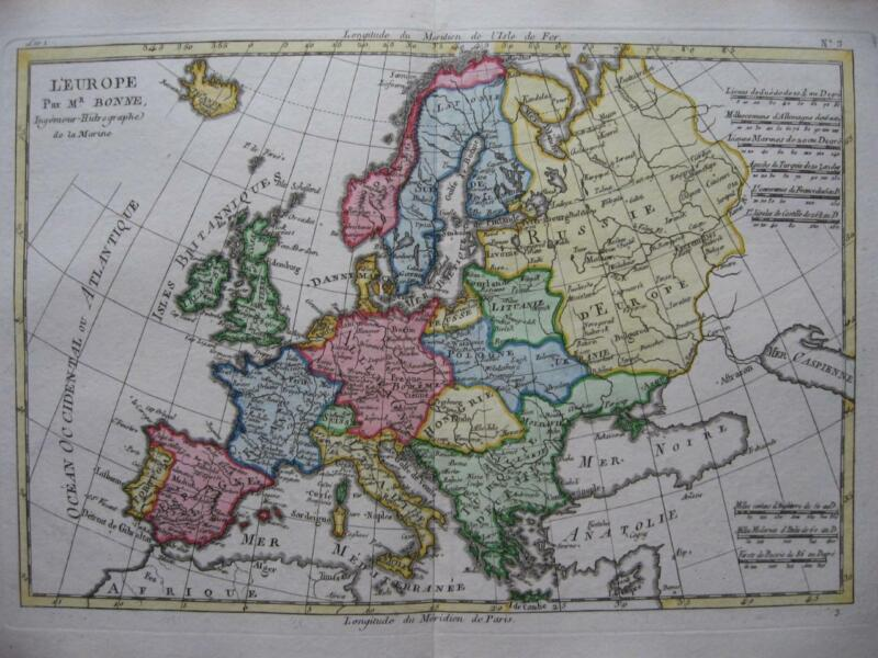 1780 - BONNE - Map EUROPE