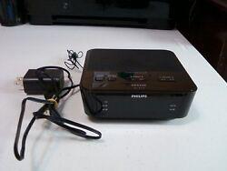 Used Philips Digital Tuning Alarm Clock Radio With Dual Alarm