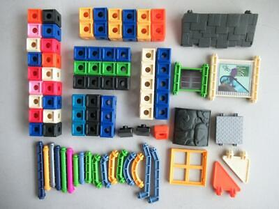 Fisher Price TRIO Building  Blocks Pieces Good Color Assortment. Over 55 Pieces