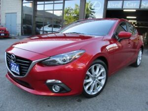 2014 Mazda MAZDA3 GT-SKY-NAVI-LTHER-ROOF-CAMERA-LEATHER-ROOF-BLU
